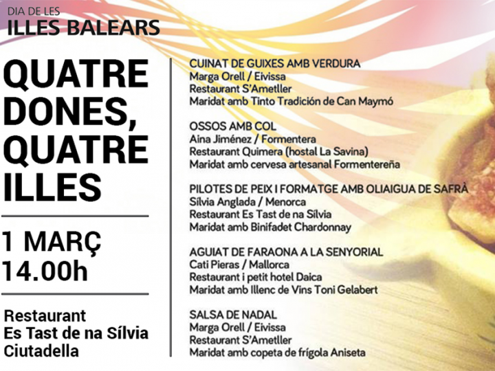 DaiCa, tu restaurante en Mallorca, se traslada a Menorca para celebrar el Dia de les Illes Balears